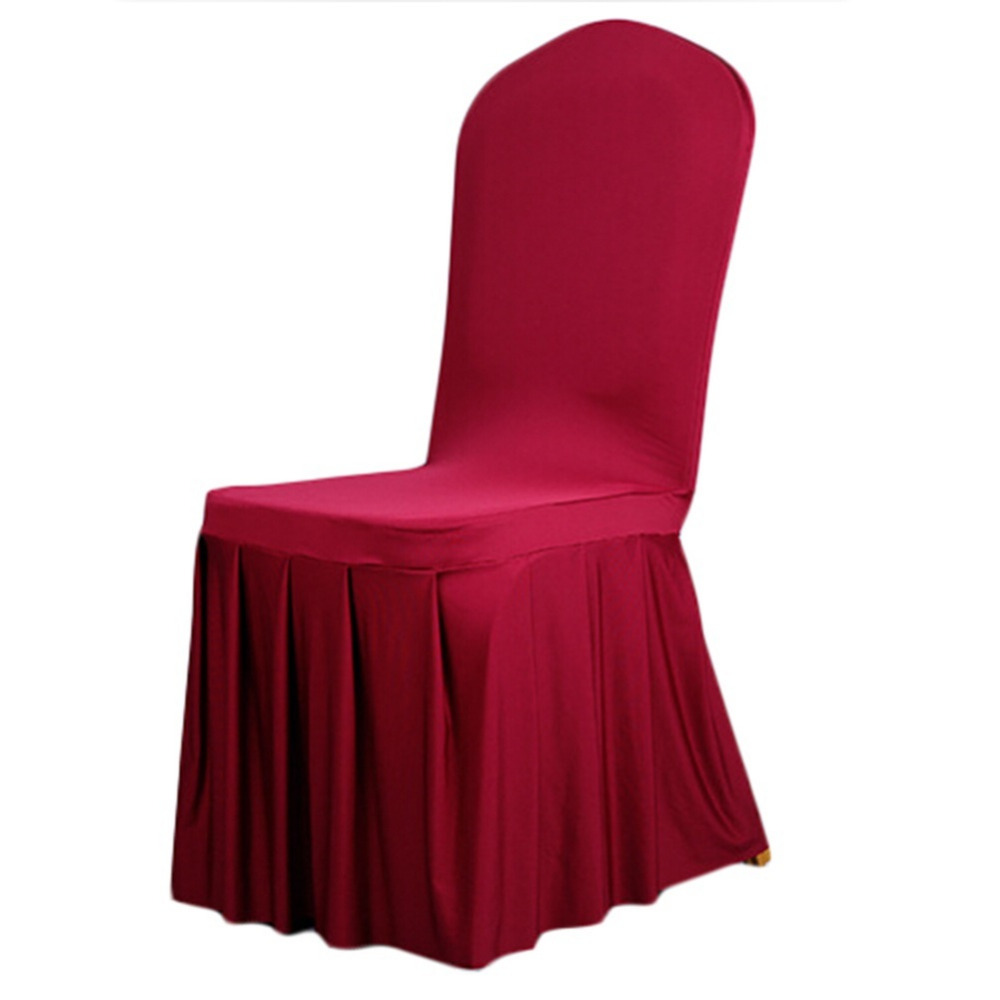 High Quality Spandex Stretch Dining Chair Cover Restaurant Hotel Coverings Wedding Banquet Plain Chairs Covers