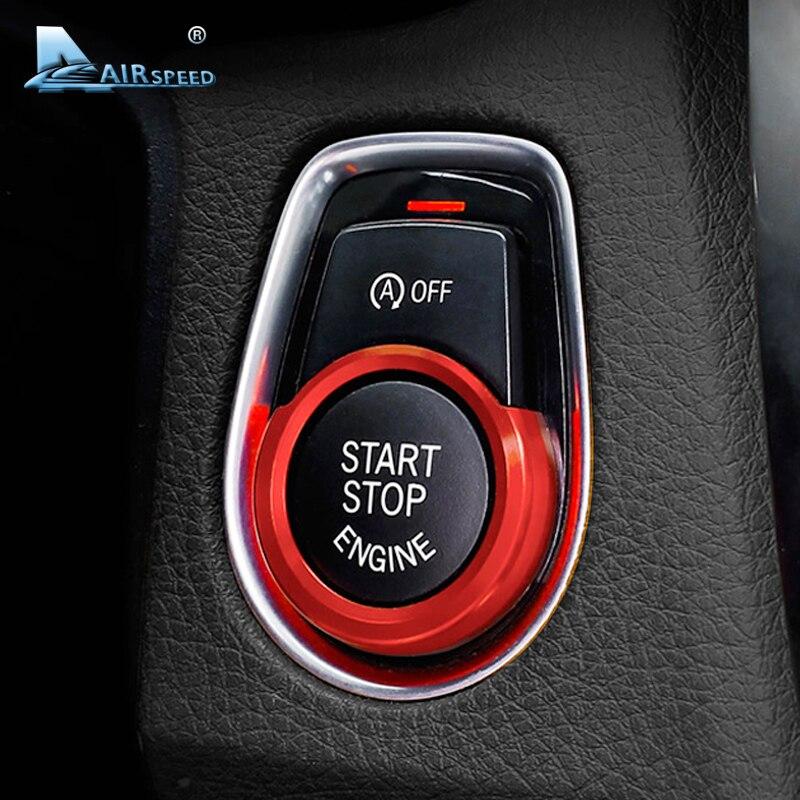 Vitesse De Voiture de Démarrage Du Moteur Allumage Clé Anneau De Couverture pour BMW X1 F48 F20 F21 F30 F32 F33 F34 F36 F45 f46 1 2 3 4 Série Accessoires