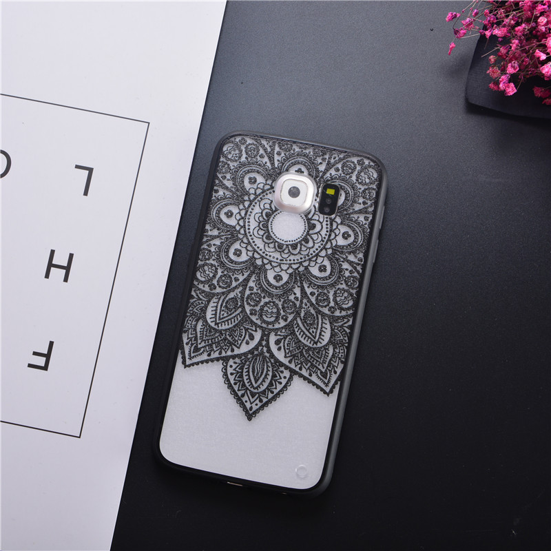 Retro Sexy Mandala Lace Flower Hard Pc Case For Samsung Galaxy S6 S7