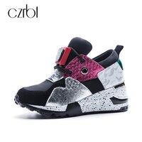 CZRBT High Quality Women Shoes Spring Autumn Cow Suede Lace Up Platform Shoes Woman Mixed Colors