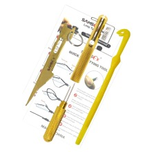 SAMSFX Fishing Quick Line and Hook Knot Tying Tool Kit 3 Knot Tyers Pro in Pack Fly Tying Tool Fishing Tackle Gear
