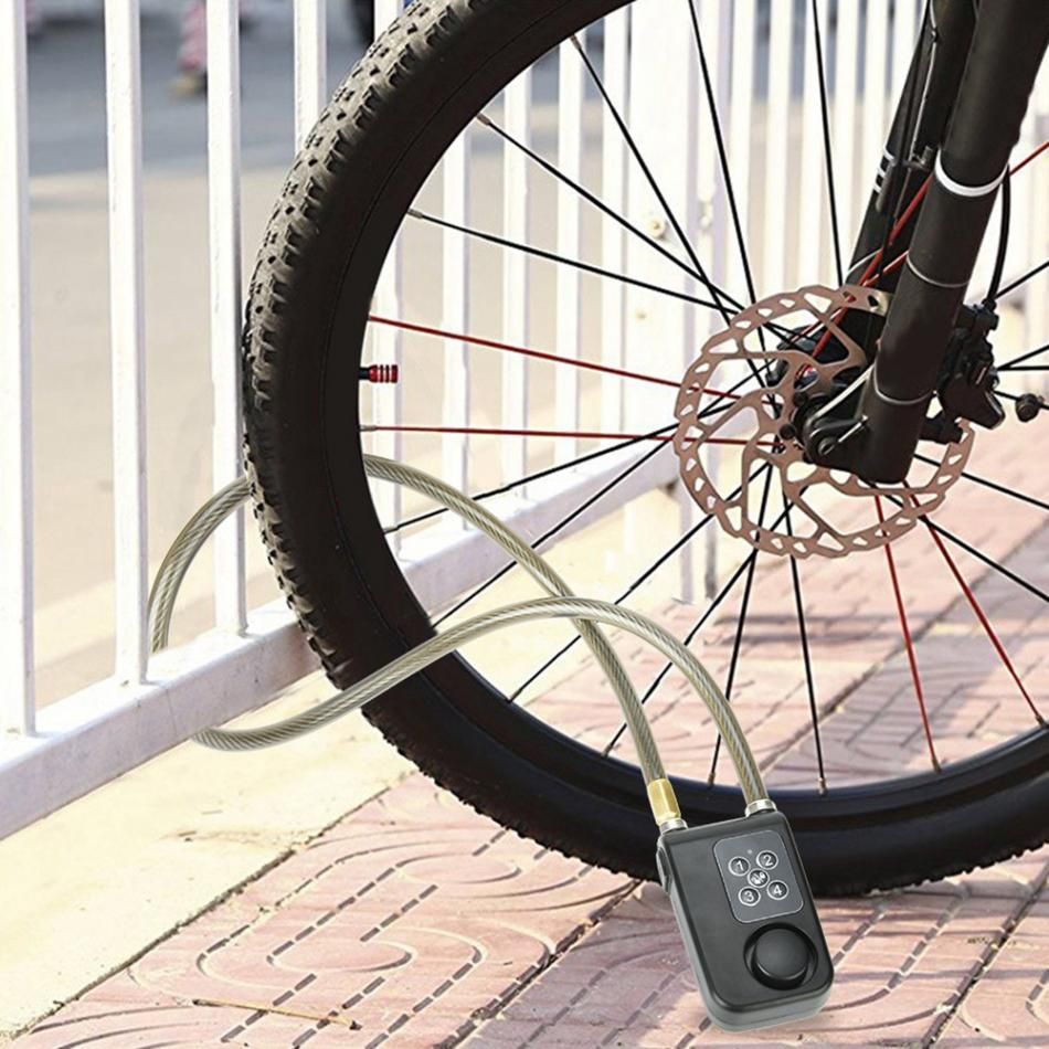 Key Bicycle Lock Chain Cable Bike Security Locker Portable Motorcycles Useful