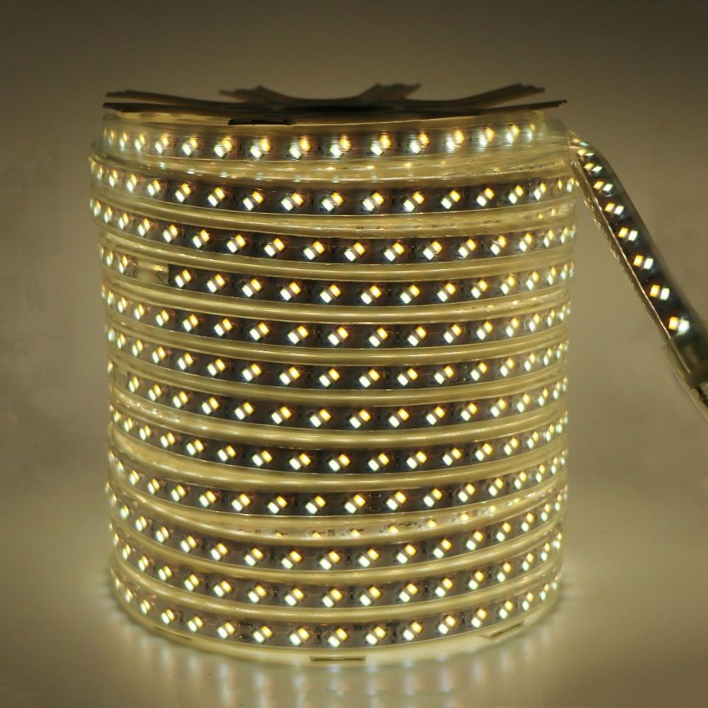 SZYOUMY 220 V Светодиодные ленты веревки света 5630 5730 SMD двойной белый с регулируемой яркостью Водонепроницаемый IP67 под шкафы DIY вечерние освещения 120 светодиодный s/M - 5