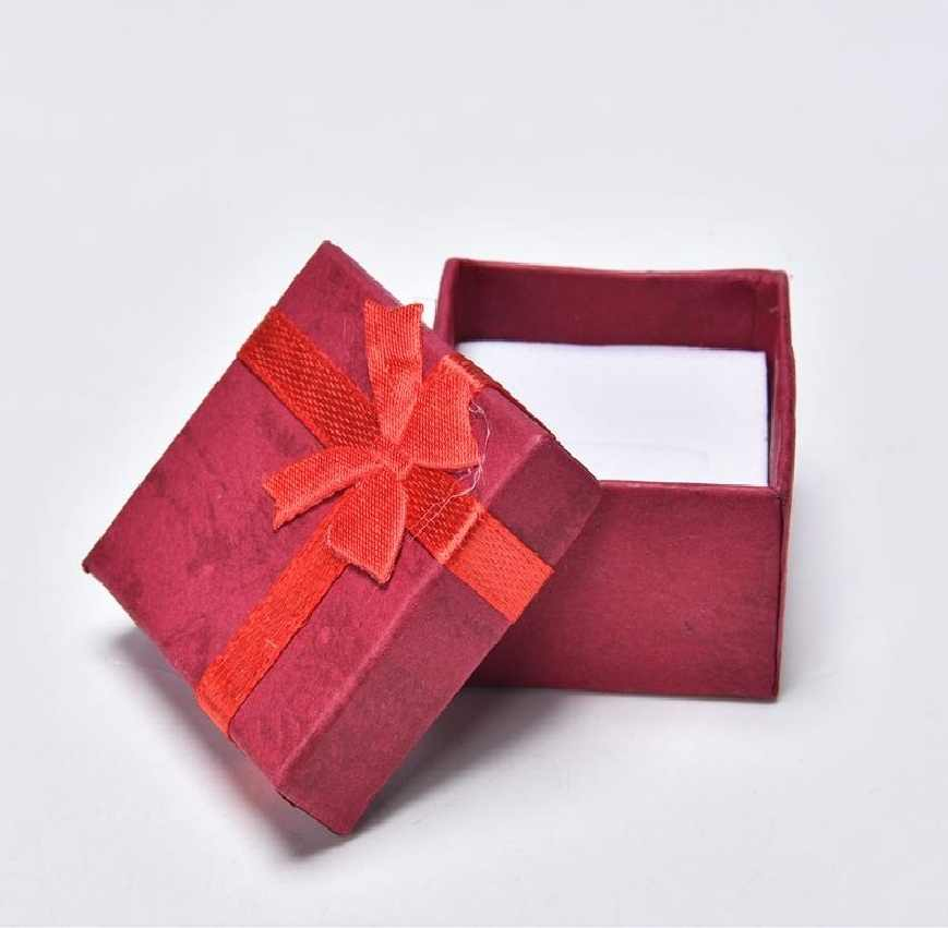Nuevos pendientes preciosos delicados anillo pequeño collar caja de muestra de regalos paquete 4cm X 4cm X 3,2 cm