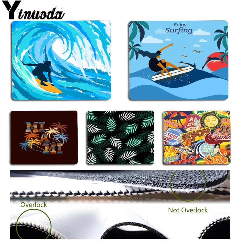 Yinuoda هاواي تيكي أيسلندا ألوها تصفح الصيف الشاطئ مخصصة محمول الألعاب ماوس الوسادة حجم ل 18x22x0.2 سنتيمتر الألعاب ماوس