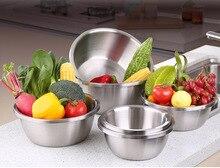 1PC Large Capacity 304 Stainless Steel Sanding Mixing Bowls Egg Beating Pan Salad Bowl Kitchen Tools for Baking Mixer PL 005
