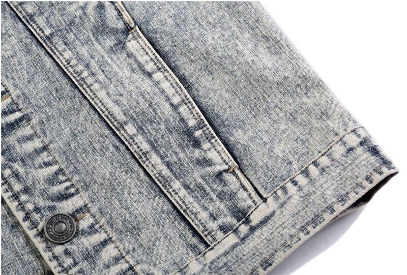 b9fd103c74 ヾ(^▽^)ノModa hombres Denim chaqueta con mangas de cuero Slim Fit ...