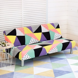 Image 3 - Printed Elastic Sofa Cover All inclusive Tight Wrap Slipcover Couch Couch Sofa Towel Without Armrest Folding Sofa Bed