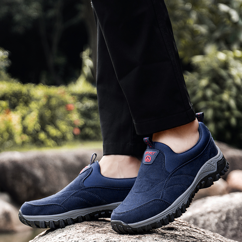 Mens Sneakers men Outdoor Athletic Shoes faux suede non-slip rubber Male Walking shoes Soft Mans footwear dad shoes big