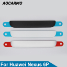 Aocarmo Back Battery Rear Cover Housing Door Bottom Metal Part Decorative Plate With Sticker For Google For Huawei Nexus 6P