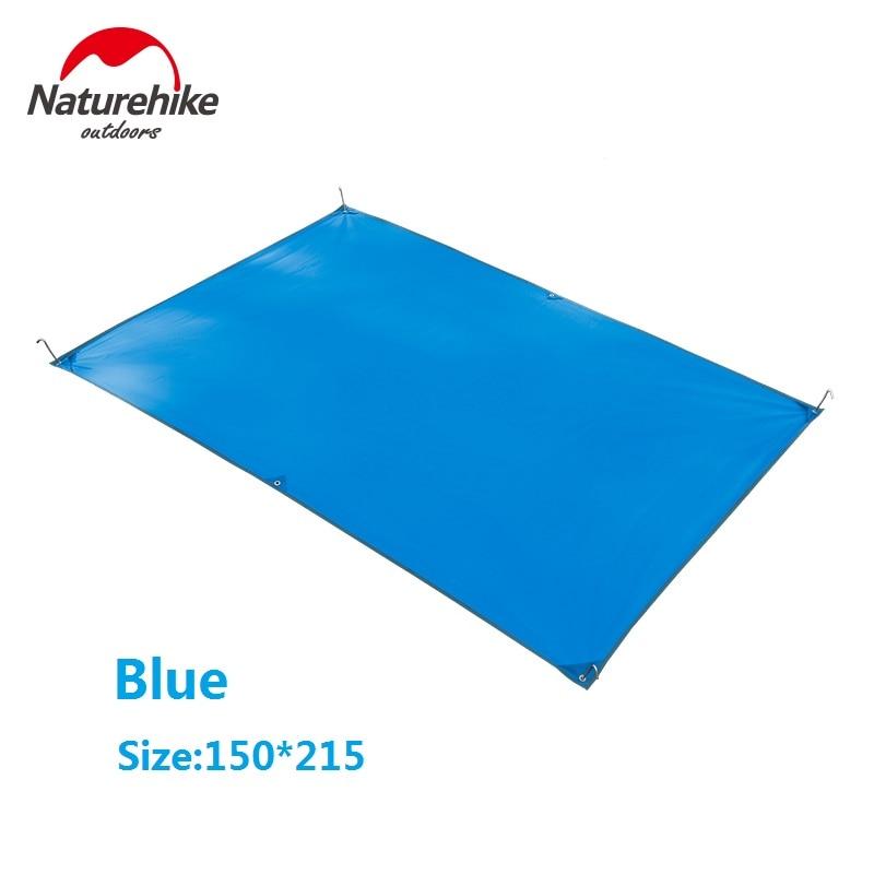 Naturehike 2-4 personas vāka auduma piestātne Mat telts āra kempinga paklājs piknika Velarium NH15D004-X / NH15D005-X