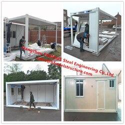 Luxe Decoratie Prefab Huis Mobiele Modulaire Huis Met Badkamer/Keuken/Wastafel/Slaapkamer Voor Verkoop