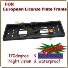 Для SONY CCD HD автомобильный заднего вида камеры резервное копирование обратный универсальный Европейский Рамка Номерного знака ночного видения со светодиодами камера