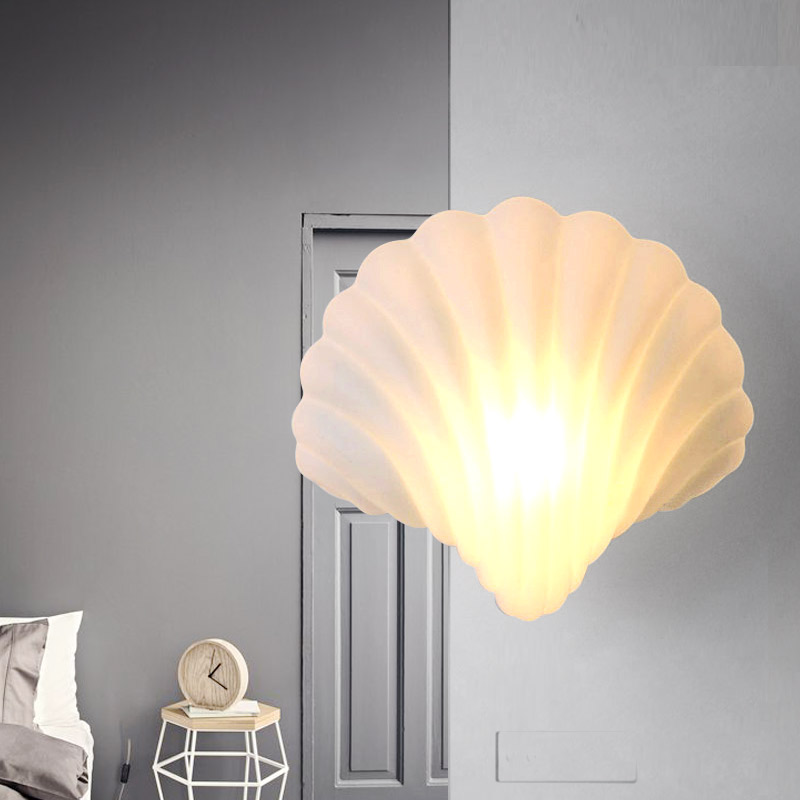 E27 Led bulb  bedside lamp light in the bedroom balcony creative  simple shell wall lamp advances in librarianship 27