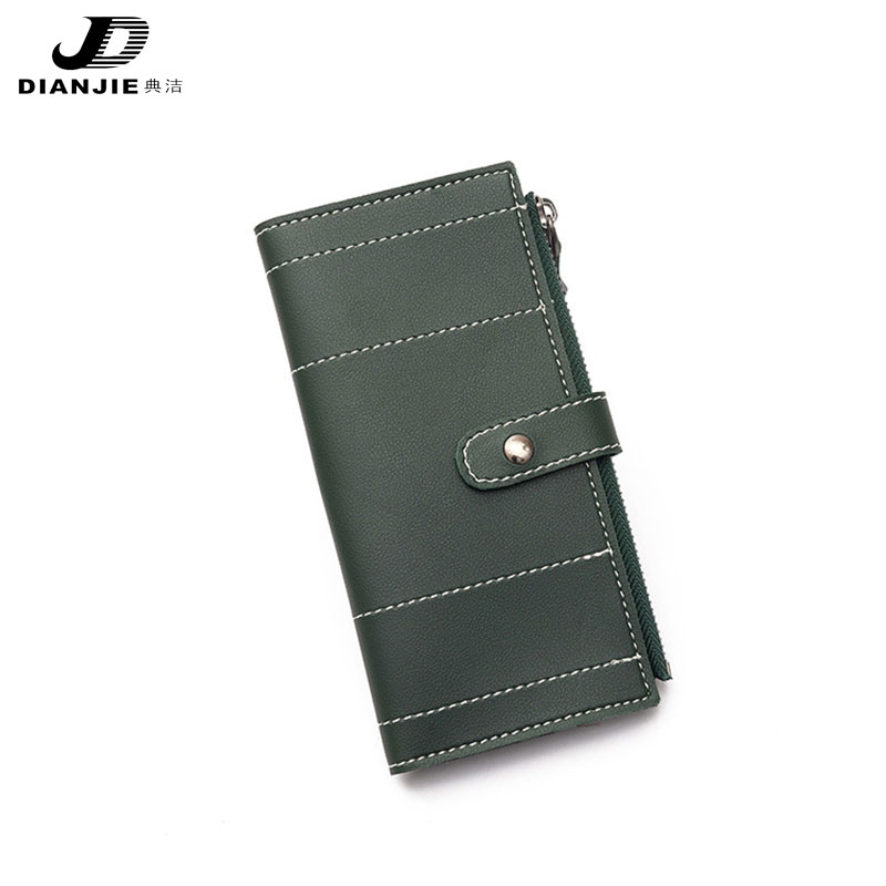 Korean Version Of The New Women's Wallet Three Fold Long Paragraph Multi Card Embroidery Line Wallet Buckle Fashion Handbag the other side of the road new extended version cd
