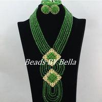 الأخضر النيجيري الزفاف الخرز الأفريقي مجوهرات مجموعة الكريستال مجموعة مجوهرات الزفاف مجموعات المجوهرات دبي العصرية رخيصة شحن مجاني ABF118