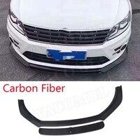 Carbon Fiber Car Racing Front Bumper Lip Spoiler Splitter Body Kit for Volkswagen Passat CC Rline 2013 2017 E Style