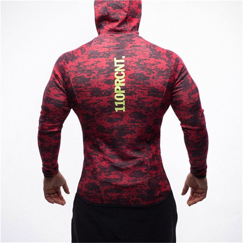 Image 4 - Men fitness bodybuilding Camouflage sweatshirt Hoodie Gyms workout Hooded zipper jacket male Joggers Sportswear Brand clothing-in Hoodies & Sweatshirts from Men's Clothing