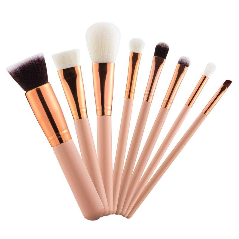 8PCS Rose Golden Brushes Foundation Powder Eyeshadow Blush Makeup Brush kits Luxury Cosmetics Set Beauty Tools цена и фото