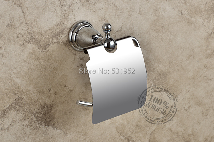 free shipping Chrome Plate Wall-mounted Toilet Roll Holders Toilet Paper Storage With Cover  bathroom accessories wholesale luxury golden color toilet paper holder wall mounted roll toilet paper rack with cover bathroom accessories free shipping 3308
