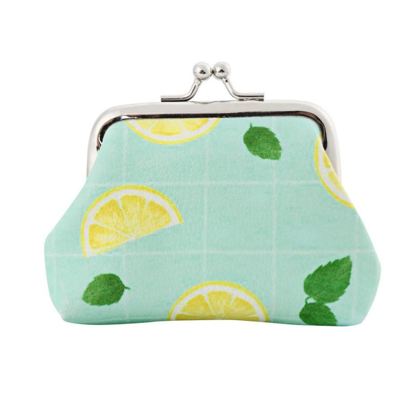 Coin Wallet Vintage Leather Small Wallet Hasp Purse Clutches Bags Printing Kawaii Small Coin Purses Monederos Infantiles#0512