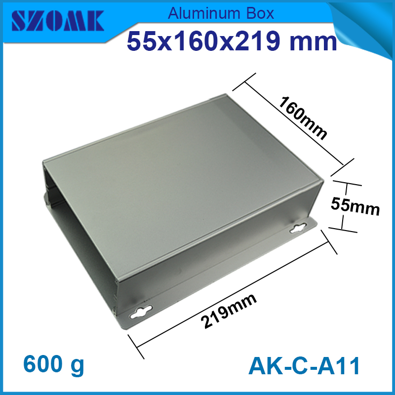 1 piece free shipping new arrival aluminum enclosure project box extruded aluminum housing for electronics 55(H)x160(W)x219(L)mm 1 piece free shipping powder coating aluminium junction housing box for waterproof router case 81 h x126 w x196 l mm