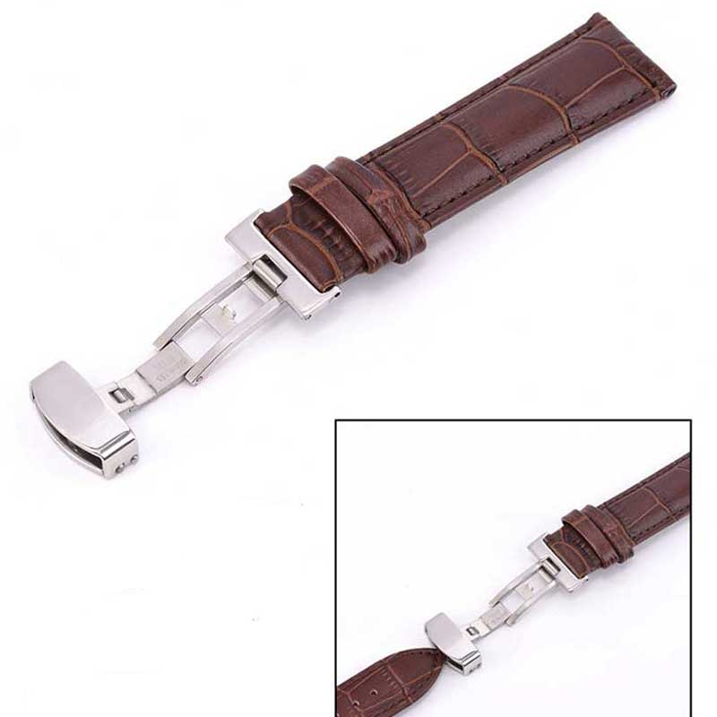 Genuine Leather Strap 18mm 19mm 20mm 21mm 22mm 23mm 24mm universal watch band steel buckle wrist strap Strap bracelet 18mm 19mm 20mm 22mm mens smooth genuine leather watch strap band steel buckle wrist watch band