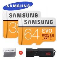 SAMSUNG EVO Micro SD Speicherkarte 32 GB 64 GB 128 GB Class10 microSDXC U3 UHS-I Tf-karte 4 Karat HD mit Adapter & USB3.0 Card Reader