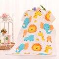 120*60 cm Crianças Impresso Gaze Absorvente Infantil Crianças Recém-nascidas Arruelas Rosto Limpe Pano Suor Material Do Bebê Roupão de Banho de Praia toalhas