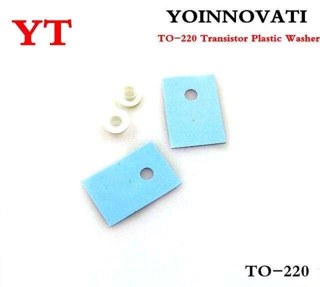 Envío Gratis 100 piezas-220 Transistor arandela de plástico aislamiento lavadora + 100 piezas-220 de mejor calidad