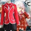 Japanese Anime Guilty Crown Yuzuriha Inori Cosplay Costume School Uniform Sailor Suit Newest