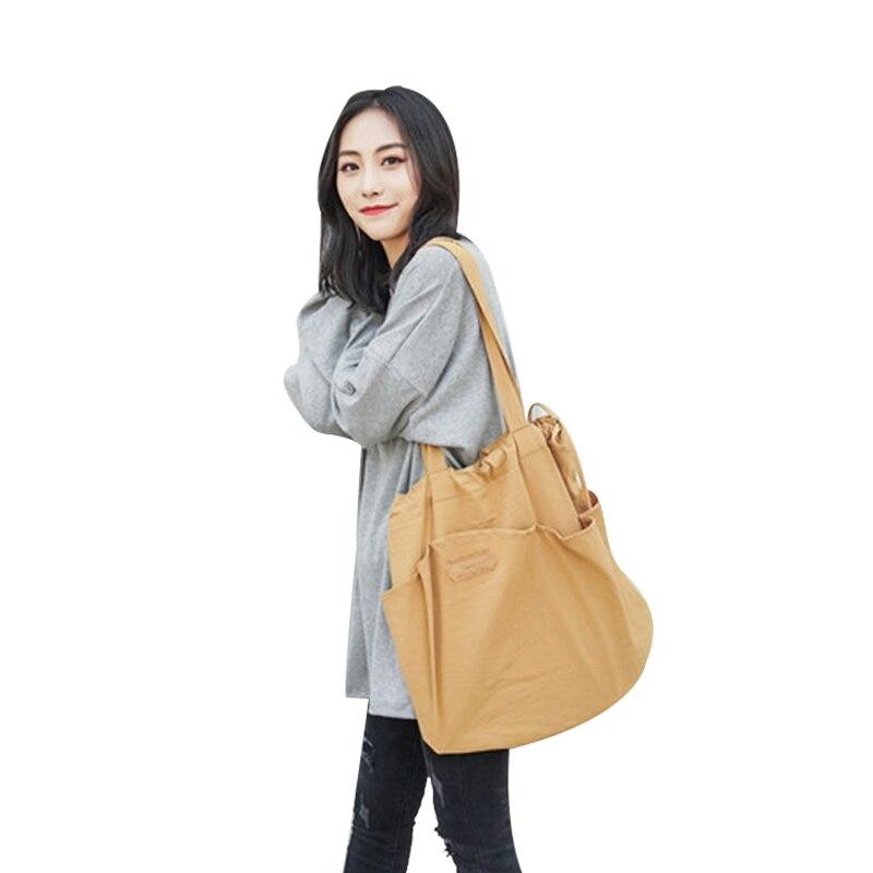 Ladies Duty Canvas Tote Bag Handmade Cotton Shopping Bag School Travel Folding Shoulder Shopping Bags