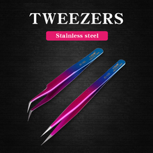 2pcs/lot Curved Straight Tip Tweezers Set Stainless Steel Precision Forceps Electronic Soldering Repair Tools