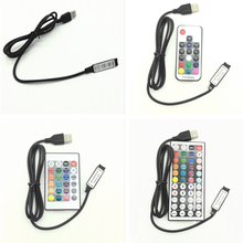 USB Controller DC 5~24V 6A RF Wireless Remote control Dimmer mini 3keys 17/24/44keys For 5050/2835/3528 RGB Led Strips lights mini 6a rgb led rf remote controller page 4 page 3