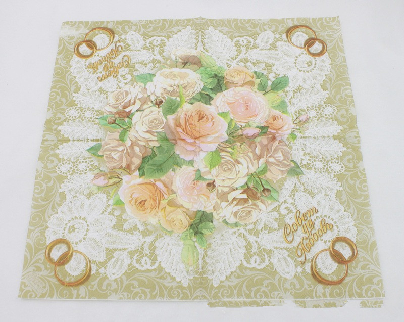 high grade club vintage flower paper napkins cafeparty tissue napkins decoupage decoration paper 33cm33cm 20pcspacklot in toilet tissue from beauty
