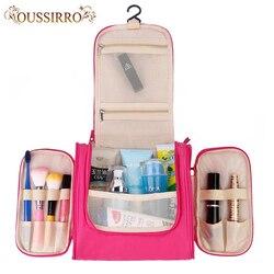 Nova moda feminina de alta capacidade beleza maquiagem sacos pendurado viagem cosméticos sacos de viagem saco de lavagem de cuidados pessoais organizador do banheiro