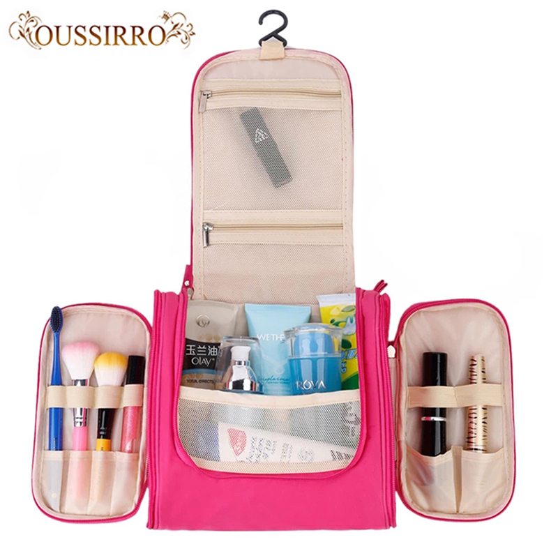 Women new fashion High Capacity beauty makeup bags hanging Travel cosmetic bags travel personal care wash Bag bathroom Organizer