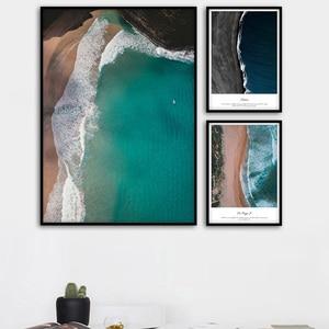 Пляжные пейзажи, скандинавские плакаты и принты, настенная живопись на холсте, настенные картины для гостиной, холст, художественный принт, ...