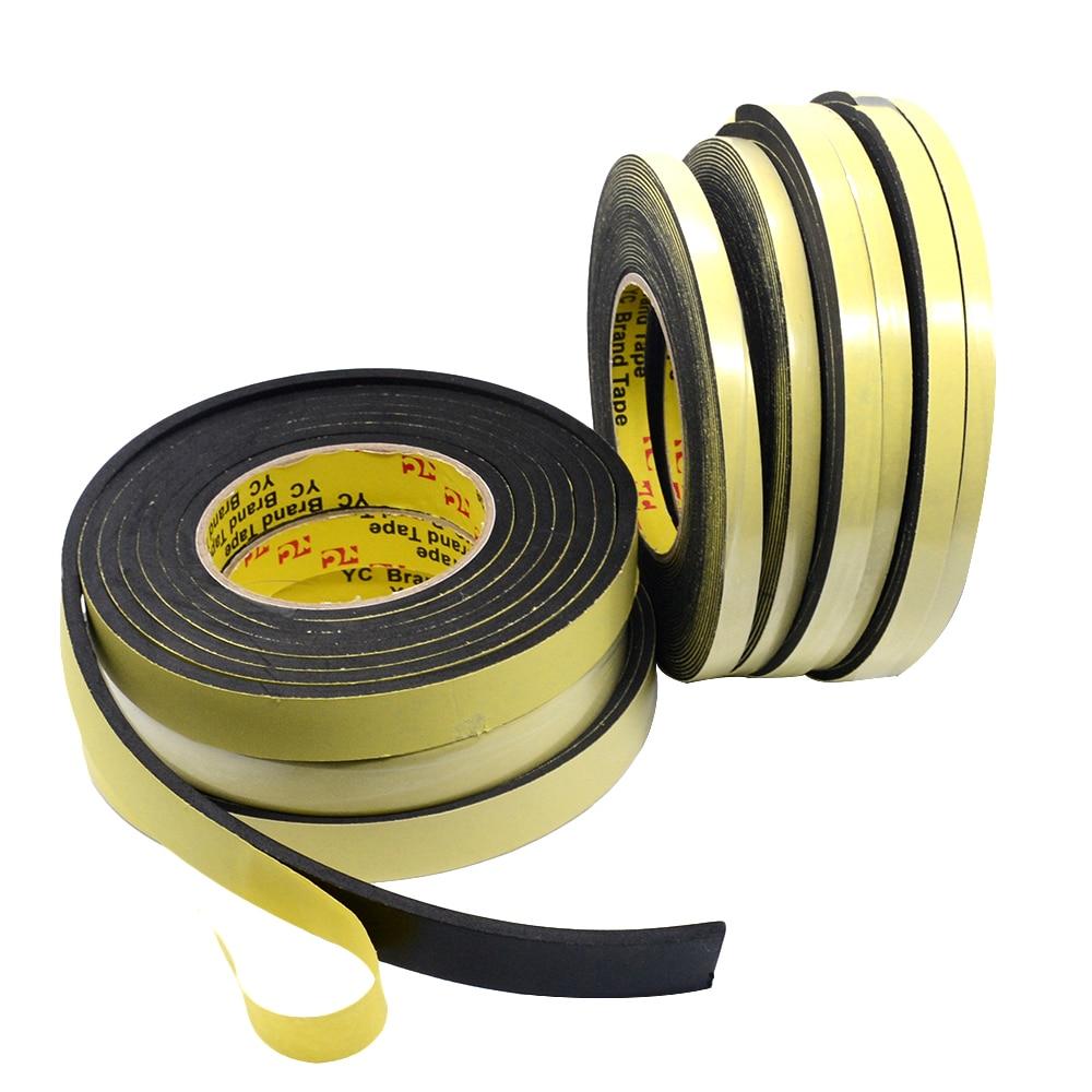 Image 5 - 5m*10mm*2mm/3mm Single Sided Adhesive Waterproof Weather Stripping Foam Sponge Rubber Strip Tape 10M *1mm Window Door Seal StripSealing Strips   -