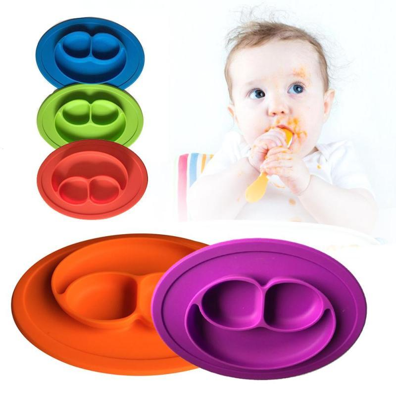 Baby Dishes silicone infant Bowls Plate Tableware Kids food Holder tray Children Food Container Placemat for baby feeding D2