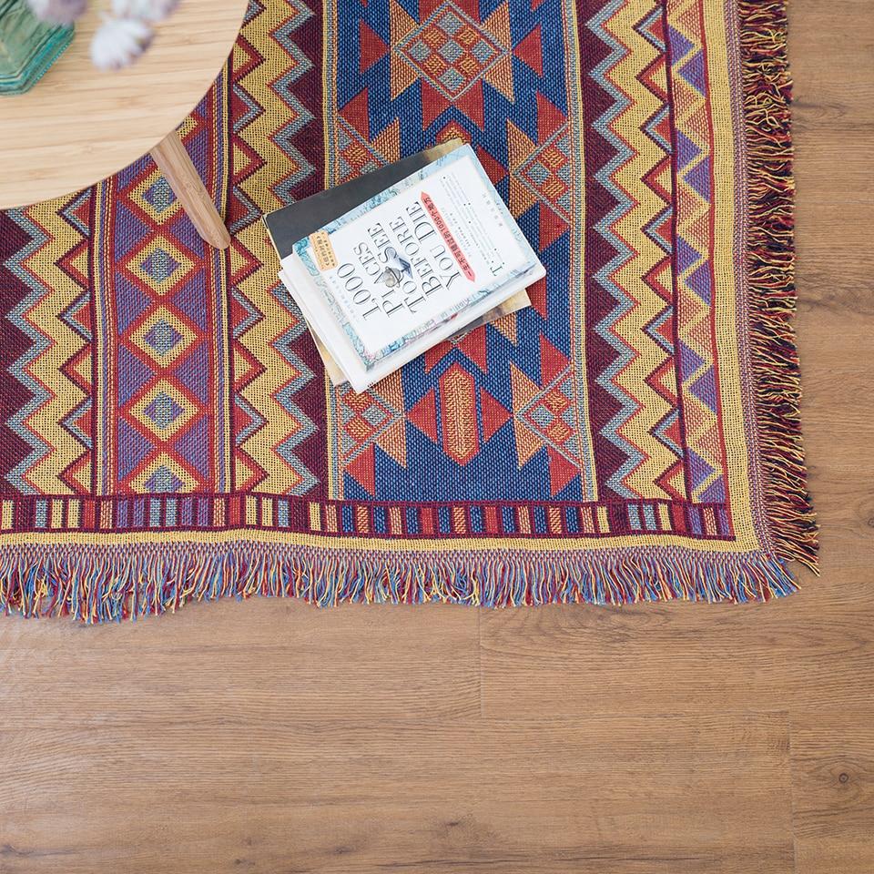 Baumwolle mit Fransen Vintage Babydecke wirft auf Sofa / Bett / - Haustextilien - Foto 5