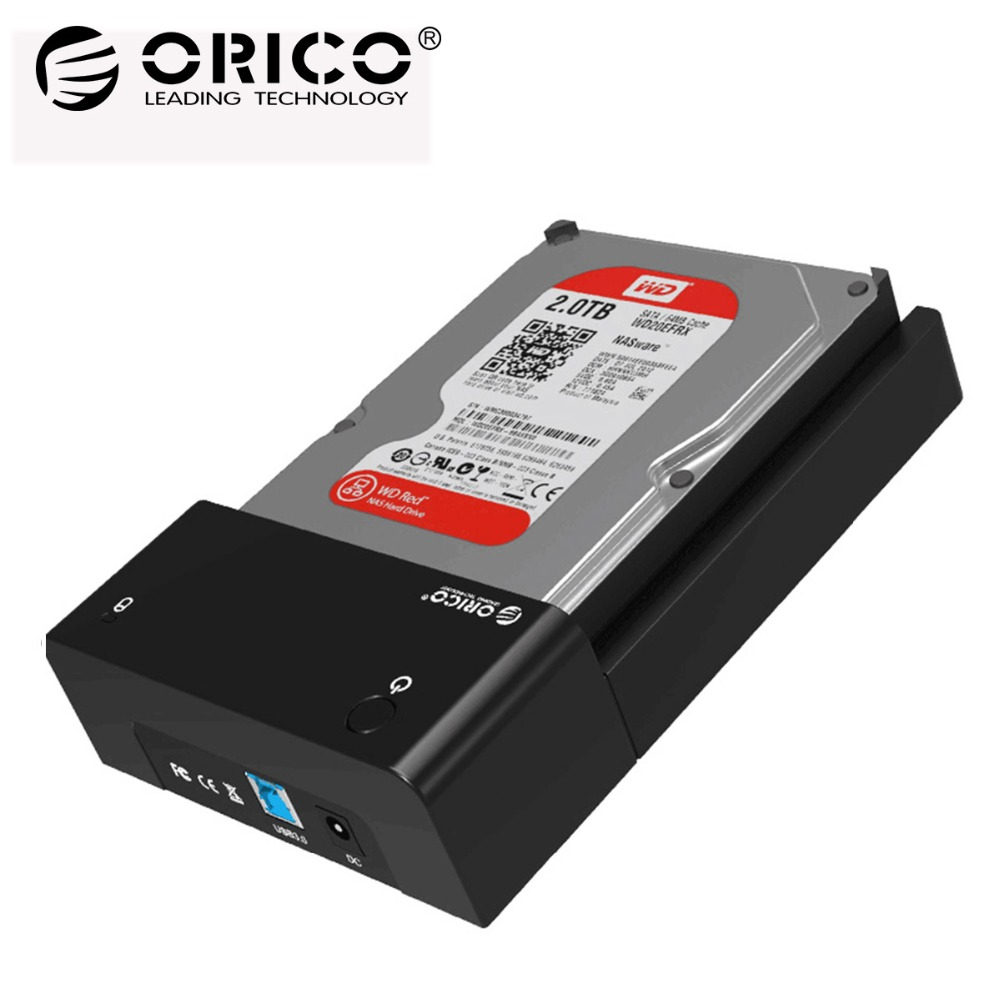 ORICO 3.5 Tool Free HDD Enclosure USB3.0 to SATA Hard Drive Disk Case SSD Adapter HDD Docking Station for hdd 2.5 Case 3.5 Box ugreen hdd enclosure sata to usb 3 0 hdd case tool free for 7 9 5mm 2 5 inch sata ssd up to 6tb hard disk box external hdd case