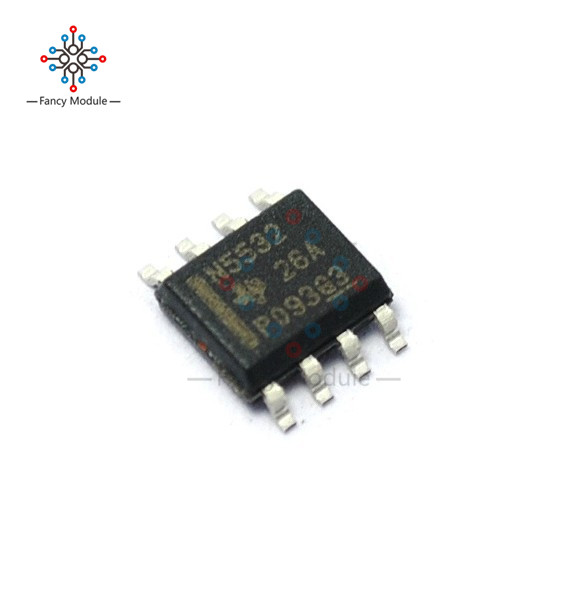 10Pcs NE5532 N5532 SOP-8 SMD Dual Low Noise Op-Amp TI IC все цены