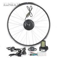 Kunray 24V 36V 48V 250W E Bike Conversion Kit Rear Wheel Ebike Kit Electric Bike Conversion kit Bicycle Motor Wheel 16 20 26 28