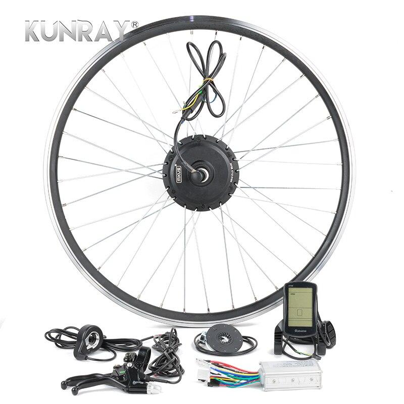 Vélo électrique E Vélo Kit de Conversion 250 w 48 v 36 v 24 v Pour 16 20 24 26 28 Jante Hub Rayons Roue Arrière Moteur Kit LCD G24R