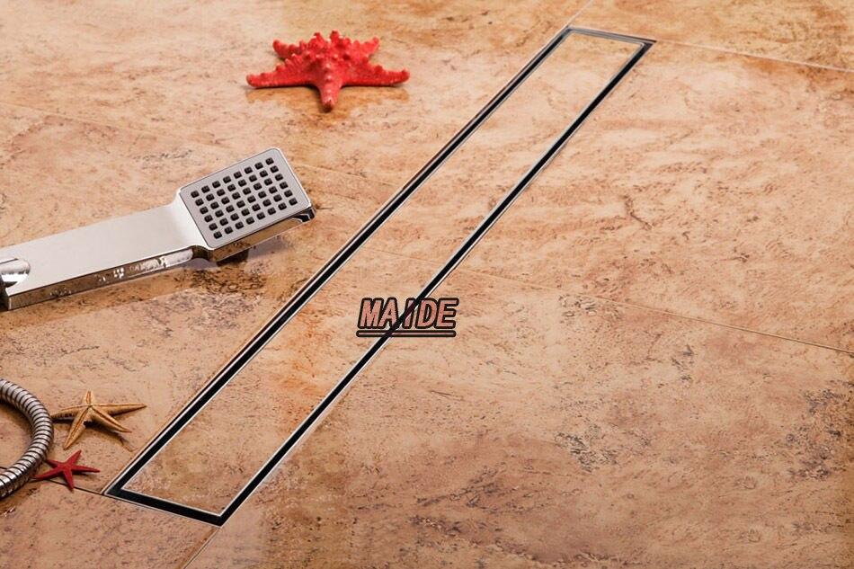 rectangle tile insert linear shower drain wetroom long floor drain channel