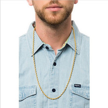 30 inches long, 4 mm jewelry necklace new gold rope chain, men sent free of charge