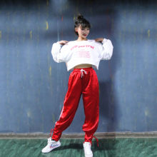 High Quality 2019 New Jazz Dance Practice Clothes Street Dance Korean Long-sleeved Women Suit Hip Hop Shirt Meeting Costumes(China)