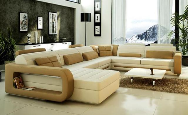 Sofa Modern Design Hot Sale Top Grain leather Sofas Corner Couches ...