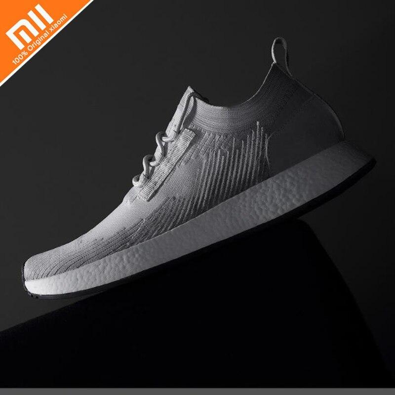 цена на Original xiaomi Uleemark men's flying woven sneakers E-TPU soles flying woven woven upper breath non-slip sports men's shoes HOT